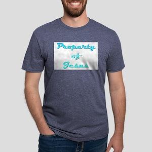 Property Of Jesus Male Mens Tri-blend T-Shirt