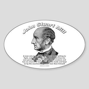 John Stuart Mill 02 Oval Sticker