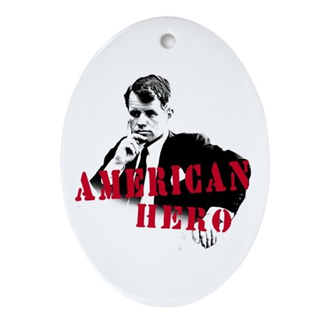 RFK American Hero Oval Ornament