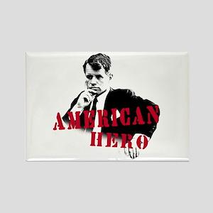 RFK American Hero Rectangle Magnet