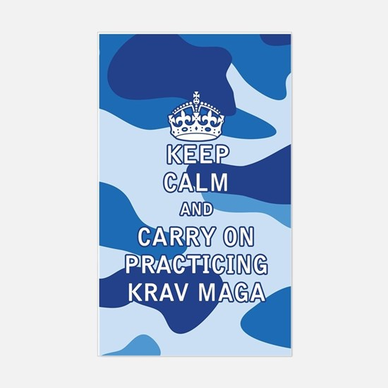 Keep Calm and Carry On Practicing Krav Maga Sticke