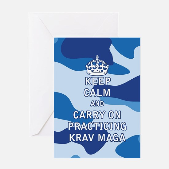 Keep Calm and Carry On Practicing Krav Maga Greeti