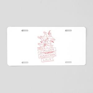 Italian Lily Aluminum License Plate