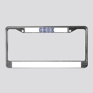 CHOE University License Plate Frame