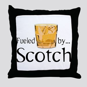 Fueled by Scotch Throw Pillow