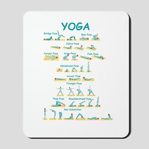 Yoga Poses Mousepad