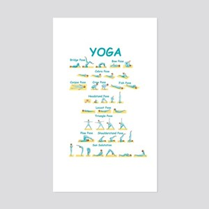 Yoga Poses Rectangle Sticker