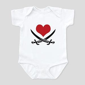 Pirate Heart Infant Bodysuit