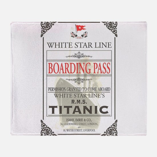 Unique Titanic Throw Blanket