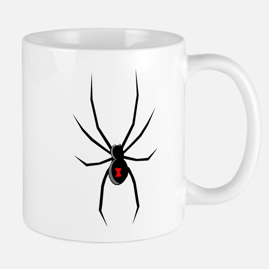 Black Widow Spider Silhouette Mugs