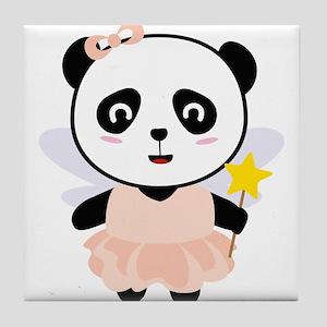Panda Fairy in costume Tile Coaster
