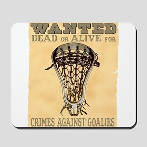 Lacrosse Wanted II Mousepad