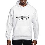 Woodcut Trumpet Hooded Sweatshirt