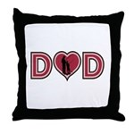 Dad Heart Throw Pillow