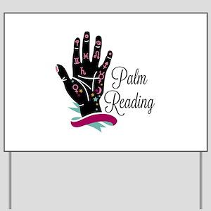 Palm Reading Yard Sign
