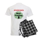 Stand Back Beer Venting Men's Light Pajamas