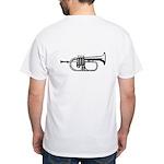 Woodcut Trumpet White T-Shirt