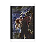 Glowing Sax Mini Poster Print
