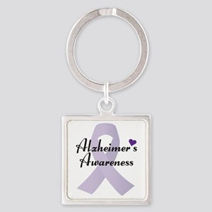 Alzheimers Awareness Ribbon Keychains