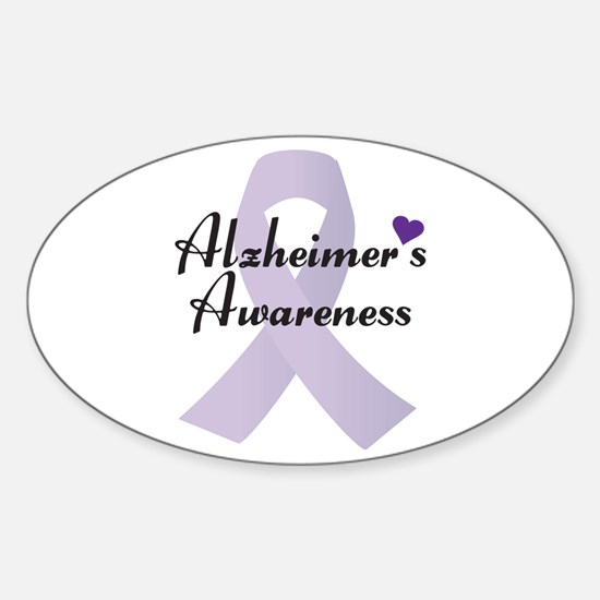 Alzheimers Awareness Ribbon Decal