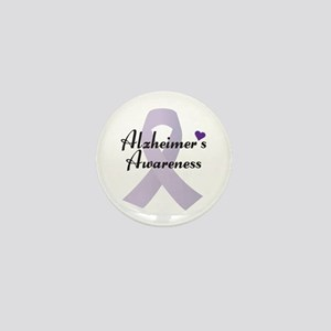 Alzheimers Awareness Ribbon Mini Button