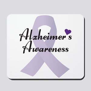 Alzheimers Awareness Ribbon Mousepad