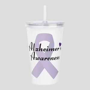 Alzheimers Awareness Acrylic Double-Wall Tumbler