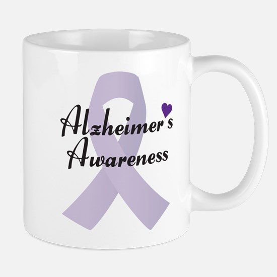 Alzheimers Awareness Ribbon Mugs