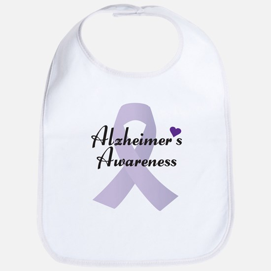 Alzheimers Awareness Ribbon Bib