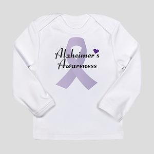 Alzheimers Awareness Ribbon Long Sleeve T-Shirt