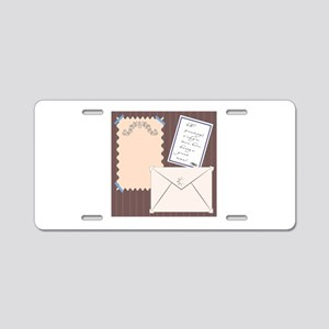 Stationery Aluminum License Plate