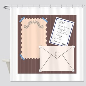 Stationery Shower Curtain