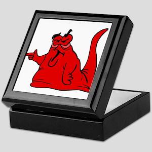 Red Mean Blob Alien Keepsake Box