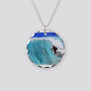 Surfer and Wave Necklace
