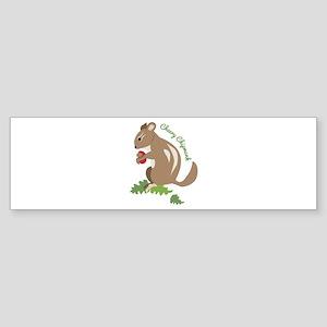 Cheery Chipmunk Bumper Sticker