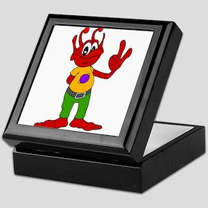Red Alien Keepsake Box