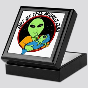 Proud alien daddy Keepsake Box