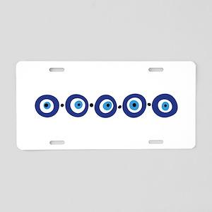 Eye Border Aluminum License Plate