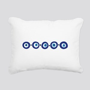 Eye Border Rectangular Canvas Pillow