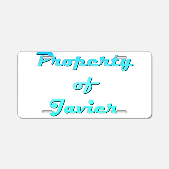 Property Of Javier Male Aluminum License Plate