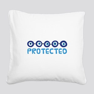 Protected Square Canvas Pillow
