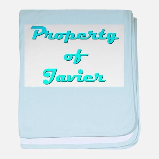 Property Of Javier Male baby blanket