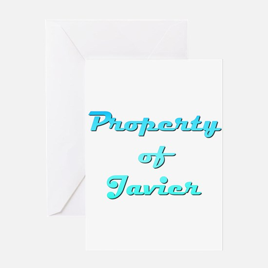Property Of Javier Male Greeting Card
