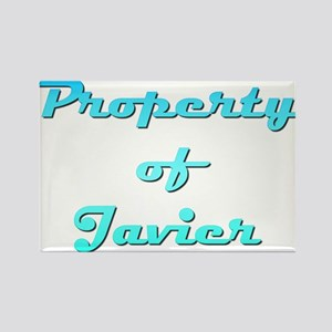 Property Of Javier Male Rectangle Magnet
