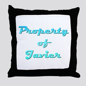 Property Of Javier Male Throw Pillow
