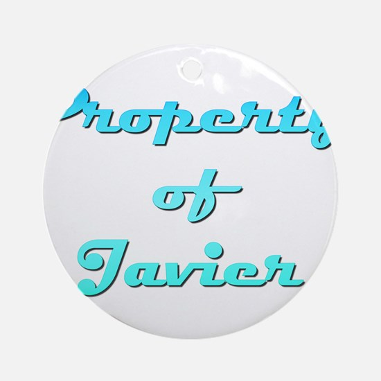 Property Of Javier Male Round Ornament