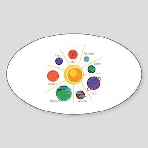 Planet Names Sticker