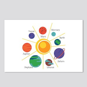 Planet Names Postcards (Package of 8)