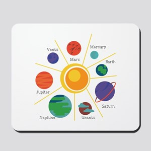 Planet Names Mousepad
