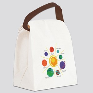 Planet Names Canvas Lunch Bag